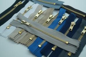 Jeans Reißverschluss Metall Gold #4, nicht teilbar