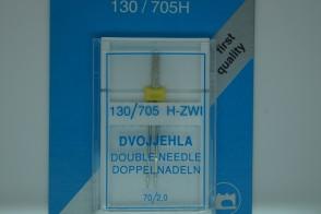 Zwillingsnadeln System 130 / 705 H, Nähmaschinennadeln Flachkolben