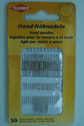 KLEIBER Hand - Nähnadeln, sortiert, 50 Stück