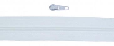 10 Meter Endlos Reißverschluss 3mm, inkl. 20 Zipper-weiß - 101