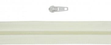 10 Meter Endlos Reißverschluss 3mm, inkl. 20 Zipper-creme - 102
