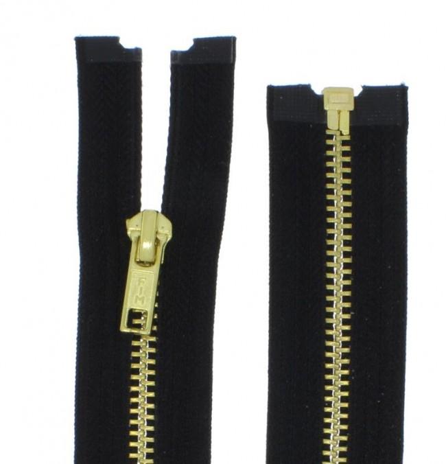 Metallreißverschluss grob Metall Reißverschluss Dunkelrot 60 cm