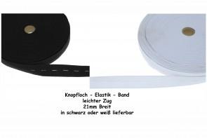 Knopfloch Elastic Band - Lochgummi Gummiband leichter Zug, meterware