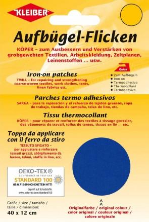 (82,29€/m²) Aufbügel-Flicken KÖPER zum Aufbügeln Patches Baumwolle für grobe Textilien