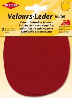 Velour-Leder Imitat zum Aufbügeln & Annähen 877