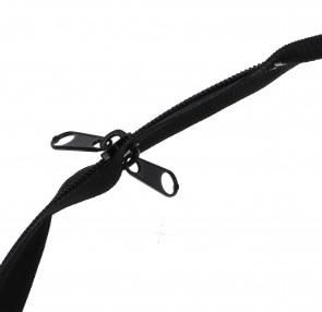 Reißverschluss mit Doppelseitigem Zipper Plastik Spiral bis 150cm teilbar #5