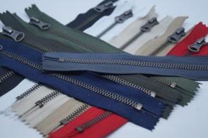 Taschen Reißverschluss Metall Altsilber #5, nicht teilbar