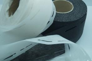 (0,14€/m) Bügelvlies Stanzband Bundeinlage zum Aubügeln, 10mm - 35mm -10mm , 100 Meter