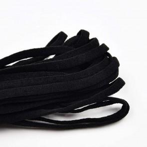 Gummiband schwarz für Mundschutz Masken Elastisch Rund 5mm Breit, meterware