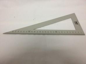 Dreiecklineal aus Leichtmetall, 30cm lang, JKOS