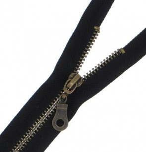 ANGEBOT 10 Reißverschlüsse Metall-Brüniert in schwarz