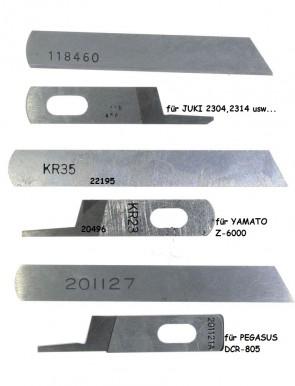 Unter ,- Obermesser für Overlockmaschinen