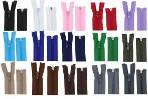 Reißverschluss Plastik Spiral bis 150cm teilbar #5